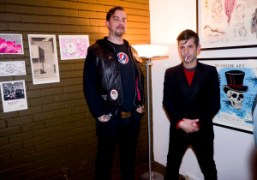 Wes Lang & André Saraiva's intimate drawing show opening at the Chateau...