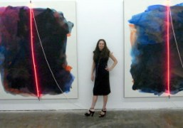 """Mary Weatherford's """"Bakersfield Paintings"""" opening at LAXART, Los Angeles"""