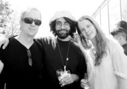 Tony Oursler, Jonathan Campolo,andJosie Keefeat Frieze Art Fair 2015, New York. Photo…