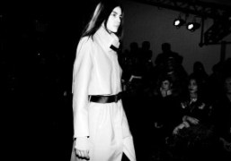 One look from Helmut Lang's F/W 2013 fashion show, New York.Photo Stephane…