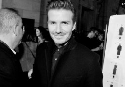 David Beckham backstage at Victoria Beckham F/W 2013 show, New York. Photo…