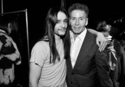Olivier Theysken and Calvin Klein backstage at Theyskens TheoryF/W 2012, New York….