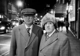 Artists Gilbert and George on the street, London. Photo Flo Kohl
