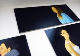 "Alex Katz ""Black Paintings"" at Timothy Taylor Gallery, London"