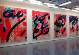 "Laura Owens' ""Pavement Karaoke / Alphabet"" exhibition at Sadie Coles, London"