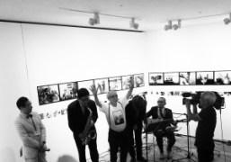 Mr. Araki celebrating his 75th birthday at Taka Ishii Gallery, Tokyo