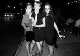 Yaz Bukey, Frances Tulk-Hart and Masha Orlov leaving the Love Taps concert…