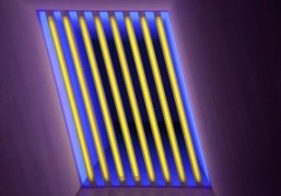 Dan Flavin's fluorescent light installation at the Chinati Foundation, Texas