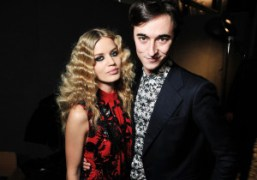Georgia May Jagger and Daniele Cavallibackstage at Just Cavalli F/W 2013 show,…
