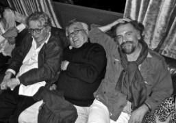 Jean-Jacques Schuhl,Pierre Le-Tan andSimon Liberatiat Purple's 20th anniversary party at Castel, Paris….