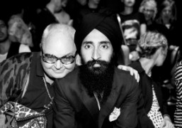Waris Ahluwalia and Mickey Boardmanat the Opening Ceremony S/S 2014 Show, New…