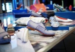 Handmade shoes at the Santoni S/S 2014 presentation, Milan. Photo Skylar Williams