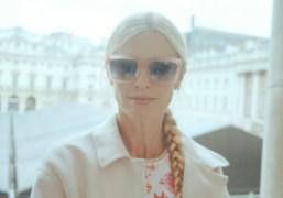 A portrait of model Laura Bailey at London Fashion Week, London. Photo…