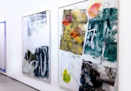 Leo Gabin in Peres Projects booth at Independent Art Fair 2014, New…