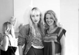 Paula Goldstein Di Principe and the singer Lisa Moorish at Jeweller Lulu…