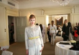 A look from the Pringle of Scotland,S/S 2013 Presentation at the Browns…
