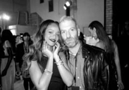 Rihanna and her stylist Mel Ottenberg after the Rihanna for River Island…