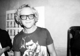Creative Director Peter Dundas backstage after the Emilio Pucci S/S 2015 show…