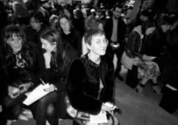 Sarah Andelman attheJ.W. AndersonF/W 2013 show, London.Photo Olivier Zahm