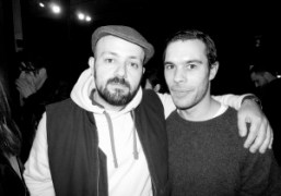 Michael Amzalag and stylist Benjamin Brunoafter theJ.W. AndersonF/W 2013 show, London.Photo Olivier…