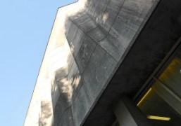 The concrete 1950's architecture of the Maison de l'Unesco, Paris