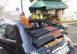 A Gucci Fiat 500 outside of the Gucci F/W 2012 show, Milan….