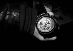 The transparent and bold Millenary Carbon One Tourbillon Chronograph watch by Audemars…