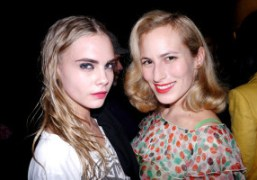 The British beauties Cara Delevingne and Charlotte Dellal after the Sonia Rykiel…