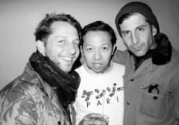 Derek Blasberg, Humberto Leon, and André Saraiva at the Kenzo men's F/W…