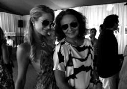 Paris Hilton and Diane Von Furstenberg at the DVF loves Evian luncheon…