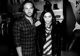Sebastian Puga and Leigh Lezark at the Armani Jeans Art Basel party,…