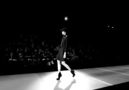 One look from the Emporio Armani F/W 2014 show, Milan.