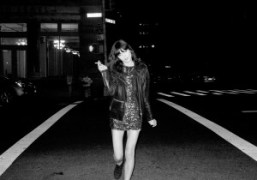 Irina Lazareanu walking home, New York. Photo Gavin Doyle