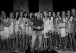 Giorgio Armani at the end of his Spring/Summer 2013 show, Milan. Photo…