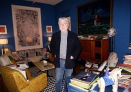 Glenn O'Brien at home, New York. Photo Olivier Zahm