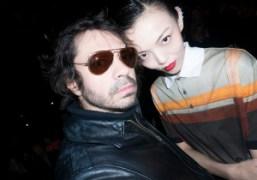 Olivier Zahm and Rila Fukushima at theGivenchy F/W 2014 show, Paris. Photo…