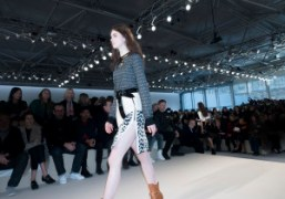 Nicolas Ghesquière's first collection for Louis Vuitton F/W 2014 at the Cour...