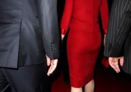 Cate Blanchett's arrival at the Giorgio Armani F/W 2011-12 couture show at…