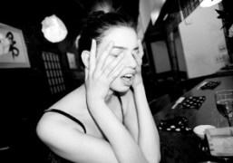 Lily McMenamy celebrating her birthday at Omen,New York.Photo Olivier Zahm