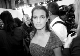 Joana Priess after the Chanel S/S 2013 show at the Grand Palais,…