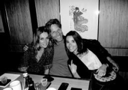 Alexandra Woroniecka, Happy Massee, and Elodie Bouchez at the Japanese restaurant Takara…