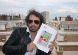 Olivier Zahm holding the new Katja Rahlwes Purple Book, at Gianni Oprandi's…