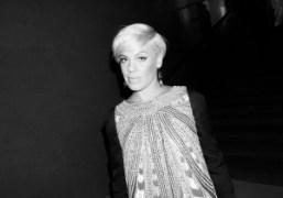 Singer Pink at the Giorgio Armani Privé Haute Couture F/W 2014/15 show…