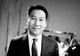 Chief Executive Douglas Fang at the Pringle of Scotland S/S 2014 presentation,…