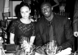 Stella McCartney and Usain Bolt atfundraising gala at ZSL London Zoo for…