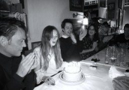 Valentine Fillol Cordier blowing out the candles at her surprise birthday dinner…