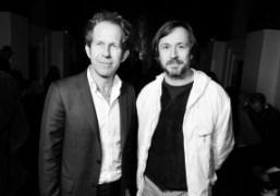 The CEO of Yves Saint Laurent, Paul Denève andMarc Newson before theYves…