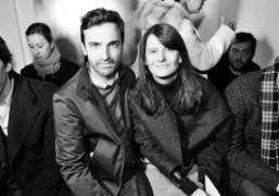Nicolas Ghesquière andMarie Amélie Sauvéat the Yves Saint Laurent F/W 2012 Show,…