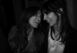 Joanna Preiss and Jamie Bochert during the** Yves Saint Laurent** men's Fall/Winter…