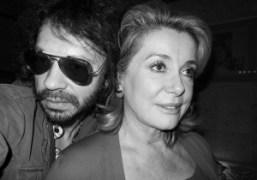 Olivier Zahm and Catherine Deneuve during the Yves Saint Laurent private dinner…